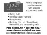 EDEN MEMORIAL PET CARE & EQUINE CREMATION