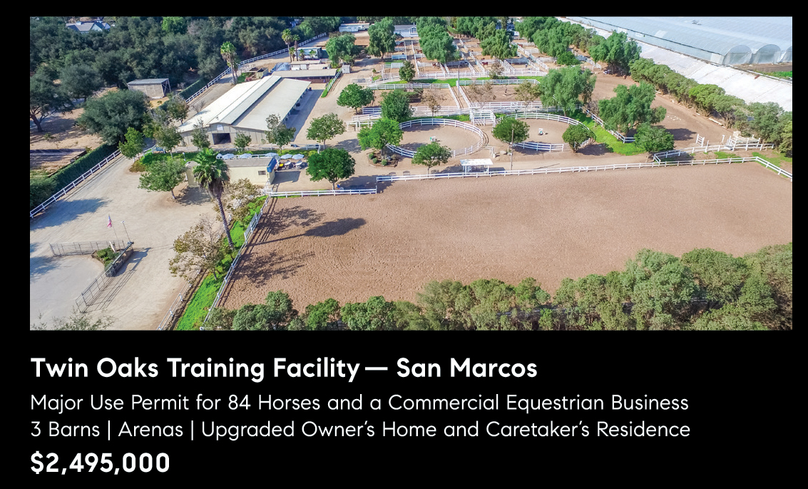 TWIN OAKS TRAINING FACILITY – SAN MARCOS – $2,495,000.