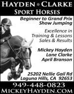 HAYDEN CLARKE SPORT HORSES