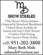 MB SHOW STABLES / MARY BETH MOLT